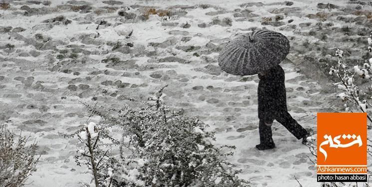 تصویر بارش باران و برف در ۱۵ استان کشور