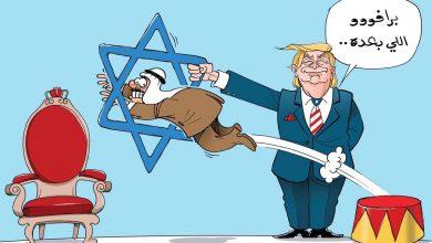 تصویر واکنش کاریکاتوریستهای خارجی به خیانت امارات به فلسطین