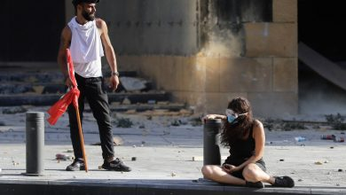 تصویر تصاویری از اعتراضات خشونتآمیز در لبنان با ۲۳۸ مجروح تا این لحظه