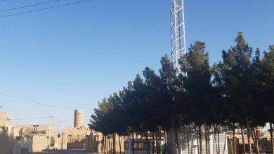 تصویر نیشخند یک دکل به مسجد تیموری