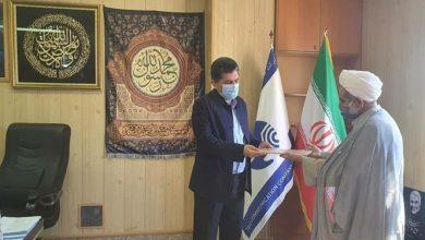 تصویر تجلیل رئیس دفتر شورای نگهبان در هرمزگان از نقش مخابرات در انتخابات