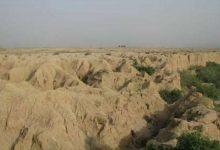 تصویر حفاری غیرمجاز به «تُل گُوینه» در دشت زیدون بهبهان رسید